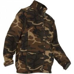 Polaire junior  100 camouflage WL vert
