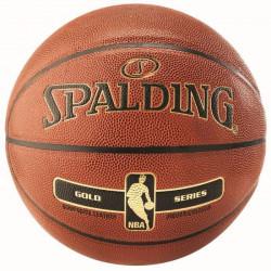Ballon Spalding NBA Gold - orange-noir - Taille 6