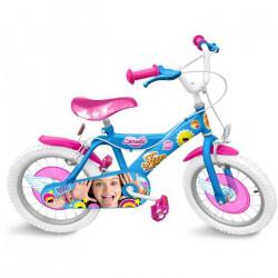 SOY LUNA Vélo 16- - Tout bille + jantes acier - Disney