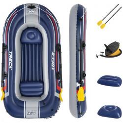 Bateau gonflable - BESTWAY - Hydro-Force™ Treck - 255x127x36cm - 2 rames - Gonfleur à pied