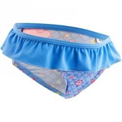 """Maillot de bain une pièce culotte bébé fille bleue imprimé """"nuages"""""""