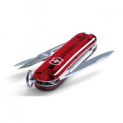 Couteau de poche suisse Signature Rouge Victorinox 0.6225.TB1, comprend un stylo à pression et des ciseaux, 8 fonctions, sous