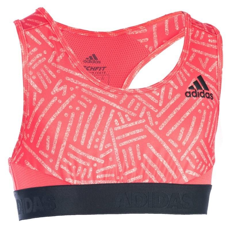 Avis   test - Brassière Fitness fille corail - Adidas - Prix 4733f0240fe