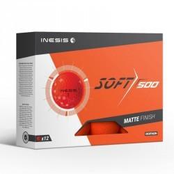 Balle de golf SOFT 500 X12 Orange mat