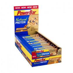 POWERBAR  Lot de 24 barres de céréales Natural Protein - Cacahouète croquante salée - 40g