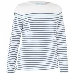 T-Shirt Manches longues Voile aventure 100 Femme Blanc gris