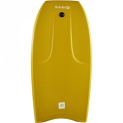 "Bodyboard 500 40"" jaune + leash"