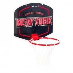 Mini panier de basket enfant/adulte Set Mini B New York bleu. Ballon inclus.