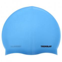 Bonnet de bain Silicone bleu bonnet - Tremblay UNI Bleu Moyen