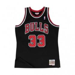 Camiseta Hombre Mitchell & Ness Chicago Bulls Scottie Pippen Negro/Rojo SMJYGS18151-CBUBLCK97SPI      T:S