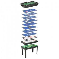 WONGSHOP®Table de jeu multiple 15 en 1 121x61x82 cm Noir