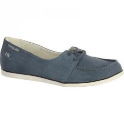 Chaussures bateau cuir femme KOSTALDE bleu