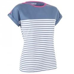 T-Shirt Manches courtes Voile aventure 100 Femme Bleu gris