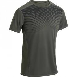 T-shirt fitness cardio homme kaki imprimé n°2 FTS 120