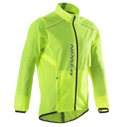 COUPE PLUIE VELO HOMME 100 FLUO SOFT LIME