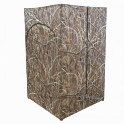 Affût de chasse carré camouflage marais