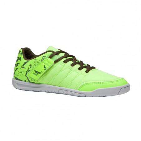 Chaussure de futsal enfant CLR 500 sala jaune kaki