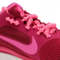 XTENEX Paire de lacets pour chaussures de sport - Autobloquants - 75 cm - Rose fluo
