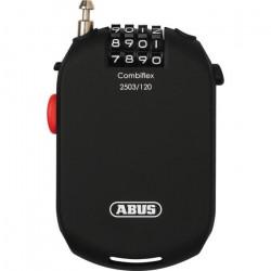 ABUS Câble-antivol vélo Combiflex 2503 - Combinaison à 4 chiffres - 120 cm - Noir