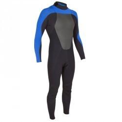 Combinaison Surf 500 Néoprène 4/3 mm Homme Bleu