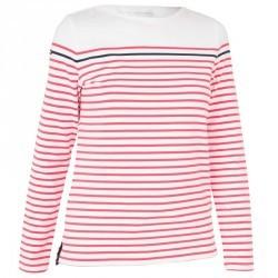 T-Shirt Manches longues Voile aventure 100 Femme Blanc rose