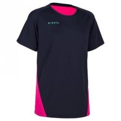 Maillot de volley-ball fille V100 bleu et rose