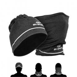 Bonnet-tour de cou hiver BV Sport - gris - TU