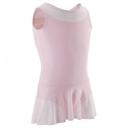 Tunique de danse classique bi-matière fille rose