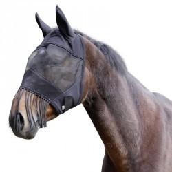 Masque anti-mouche  équitation cheval et poney noir
