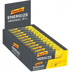 Powerbar   Energize Original Barres Énergétiques avec Mélanges de Glucides C2Max Goût Banane 25x55g - 21014000