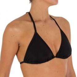 Haut de maillot de bain femme triangle coulissant MAE basic NOIR