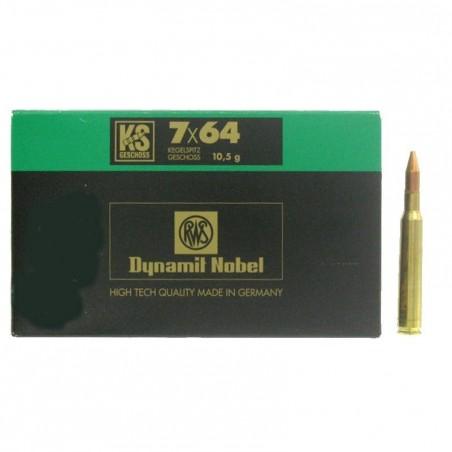 Munitions de chasse calibre 7x64 Ks 10.5g