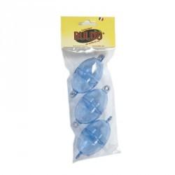 BULLES A EAU/BOMBETTES PECHE EN MER OVALE BULDO N°5 CLEAR X3