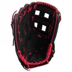 Gant de baseball A360 main droite 12 pouces noir rouge