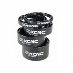 KCNC Kit Entretoises Direction LIGHT Alu 1´´1/8 Noir 3/5/10/14/20 mm