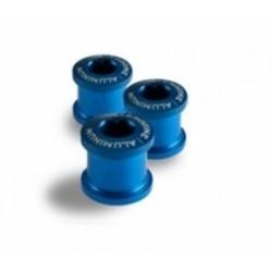 AEROZINE Kit de 5 vis 5mm + cheminées Bleu