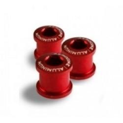 AEROZINE Kit de 5 vis 5mm + cheminées Rouge