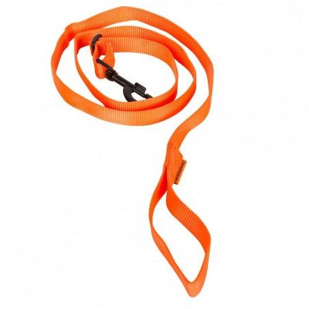 Laisse chien 100 orange fluo