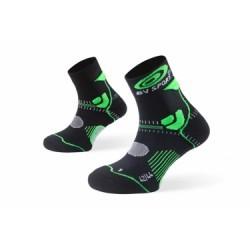 BV SPORT Paire de chaussettes TRAIL EVOLUTION Noir Vert