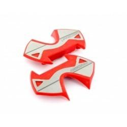 TIME Plaques Inox pour pédales X-PRESSO Rouge