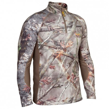T-Shirt ACTIKAM 500 WARM camouflage marron