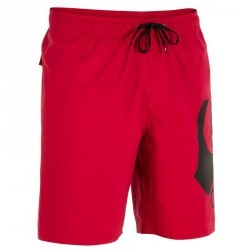 Short de bain Quiksilver homme mi-long Volley Plain rouge