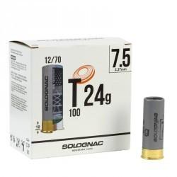 CARTOUCHE T100 24g CAL12/70 Pb N°7,5 X25
