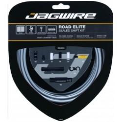 JAGWIRE Kit Complet Câbles Gaines ROAD ELITE SEALED Dérailleurs Gris