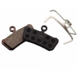 ASHIMA Paire de Plaquettes AVID Trail 4 pistons / SRAM Guide - Semi Metallique/Acier