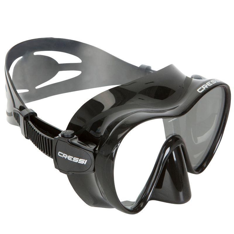 Masque de plongée F1 noir frameless