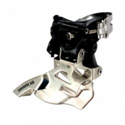 SRAM Dérailleur Avant X0 2x10V Capacité 34 Dents Collier Haut 34.9mm Tirage Haut