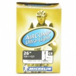 MICHELIN Chambre à air VTT C4 AIRCOMP Ultralight 26x1.5/2.20 Valve Presta 40mm