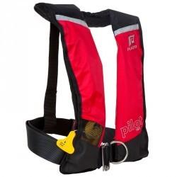 Gilet sauvetage gonflable adulte PILOT 165N Hammar avec harnais rouge/noir