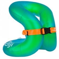 Neck Vest gonflable verte qui s'enfile comme un gilet de natation (18-30kg)
